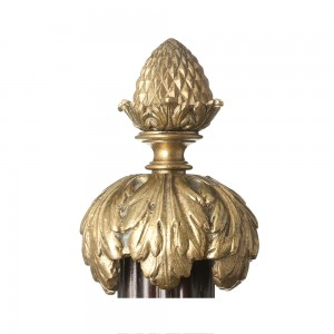 F74 Small Pineapple With Leaves Finial Mckinney Amp Co