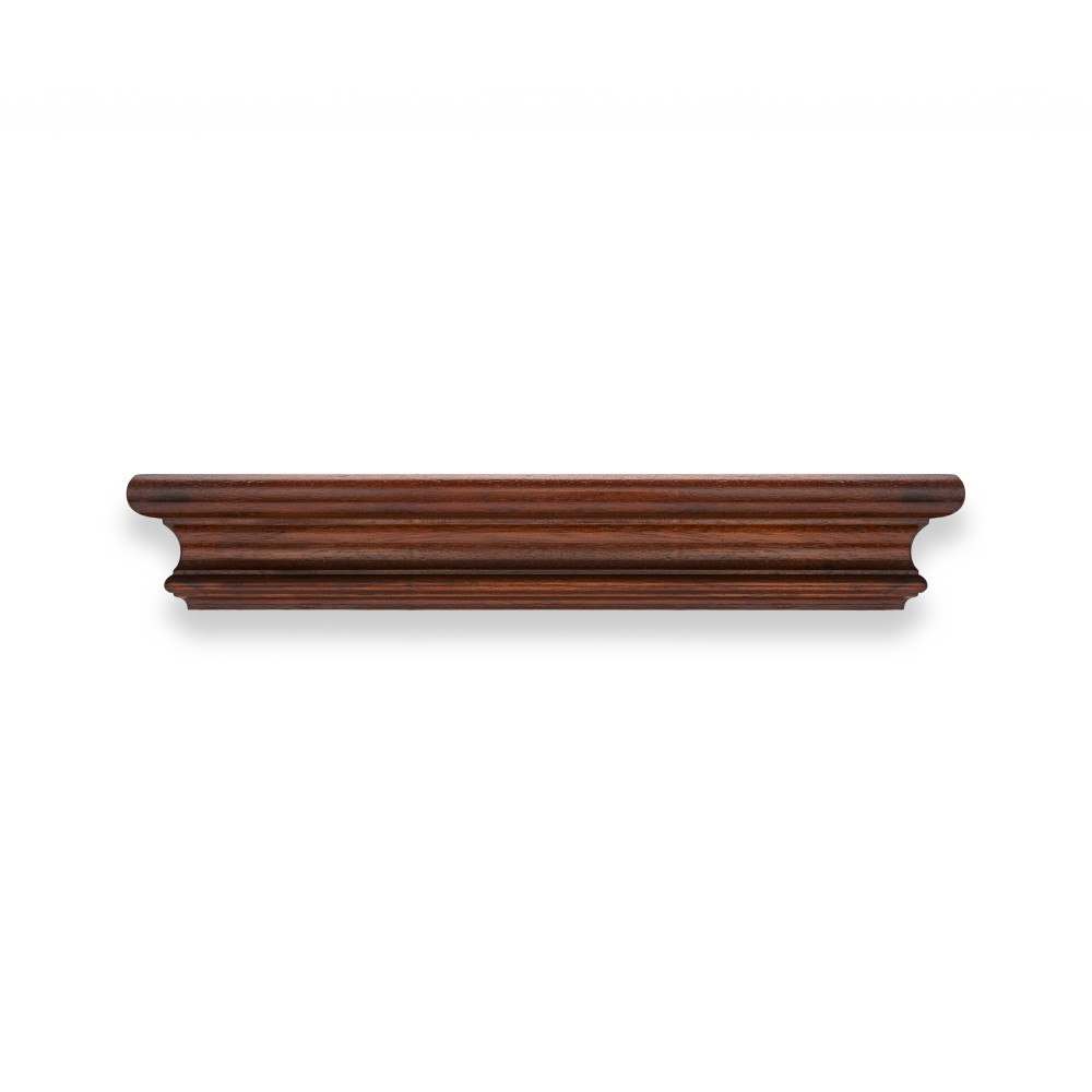 Pc30 simple rounded wood pelmet mckinney co for Wooden curtain pelmets